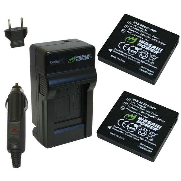Ricoh DB-70 Battery (2-Pack) and Charger by Wasabi Power