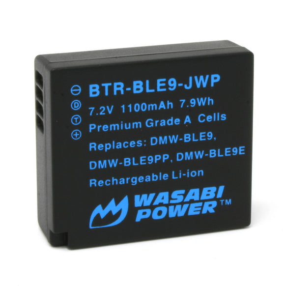 Panasonic DMW-BLE9 Battery by Wasabi Power