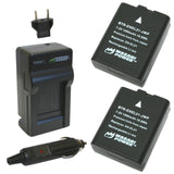 Wasabi Power Battery (2-Pack) and Charger for Nikon EN-EL21, MH-28