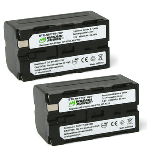 Sony NP-F750 Battery (2-Pack) by Wasabi Power