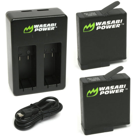 GoPro HERO5/6/7/8 Battery (2-Pack) and Dual Charger by Wasabi Power