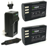 Pentax D-LI90, D-L190 Battery (2-Pack) and Charger by Wasabi Power