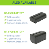 Wasabi Power Battery (2-Pack) and Dual Charger for Sony NP-F950, NP-F960, NP-F970, NP-F975 (L Series)