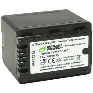 Panasonic VW-VBK360 Battery by Wasabi Power