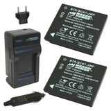 Wasabi Power Battery (2-Pack) and Charger for Panasonic DMW-BCK7, NCA-YN101G, DE-A91, DE-A92