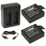 SJCAM SJ4000, SJ5000 Battery (2-Pack) and Dual Charger by Wasabi Power