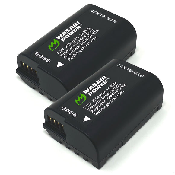 Panasonic DMW-BLK22 Battery (2-Pack) by Wasabi Power