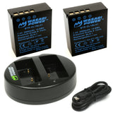 Olympus BLH-1 (Fully Decoded) Battery (2-Pack) and Dual Charger by Wasabi Power