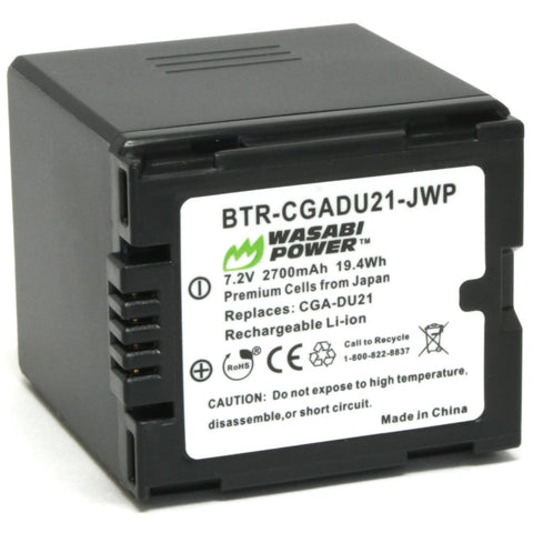 Panasonic CGA-DU21, VW-VBD210 Battery by Wasabi Power
