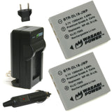 Pentax D-LI85, D-LI95 Battery (2-Pack) and Charger by Wasabi Power
