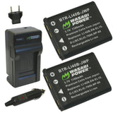 Olympus LI-40B, LI-42B Battery (2-Pack) and Charger by Wasabi Power
