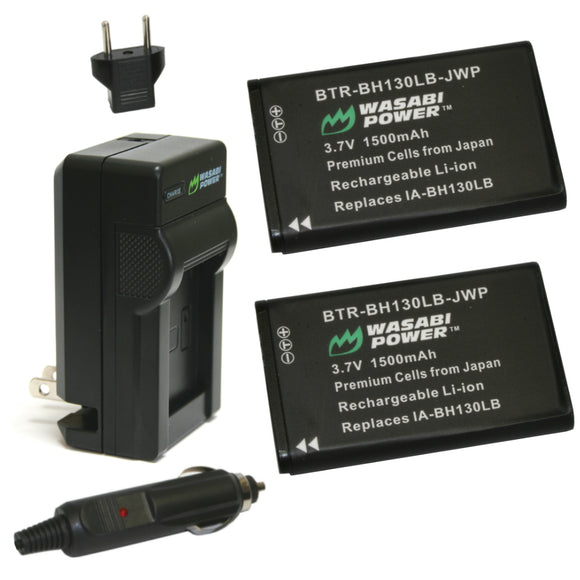Samsung IA-BH130LB Battery (2-Pack) and Charger by Wasabi Power