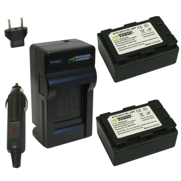Samsung IA-BP210E Battery (2-Pack) and Charger by Wasabi Power
