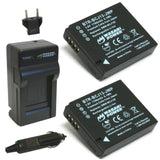 Panasonic DMW-BCJ13 Battery (2-Pack) and Charger by Wasabi Power