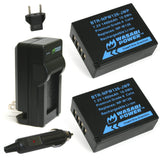 Wasabi Power Battery (2-Pack) and Charger for Fujifilm NP-W126, NP-W126S