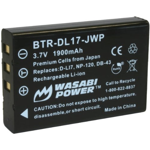 Ricoh DB-43 Battery by Wasabi Power