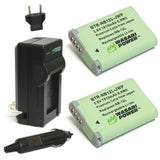 Canon NB-12L Battery (2-Pack) and Charger by Wasabi Power