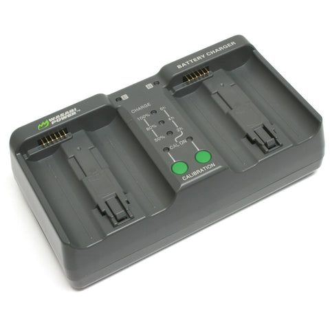 Nikon EN-EL18, MH-26 Dual Charger (with adapter for Canon LP-E4, LP-E4N, LP-E19) by Wasabi Power