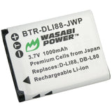 Sanyo DB-L80, DB-L80AU Battery by Wasabi Power