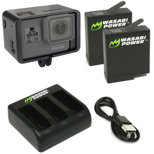 GoPro HERO5 Black & GoPro HERO6 Black Extended Battery Bundle by Wasabi Power