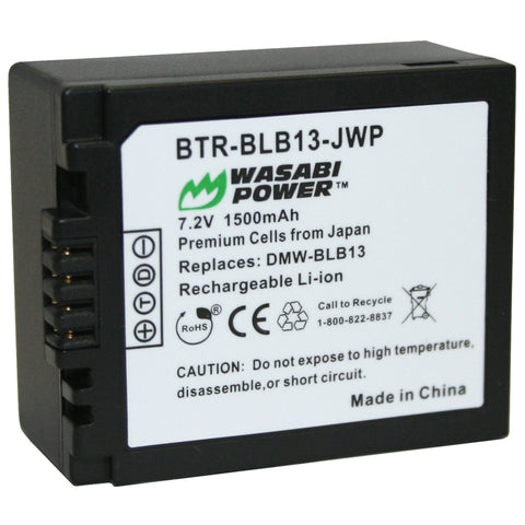 Panasonic DMW-BLB13 Battery by Wasabi Power
