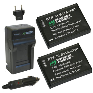 Samsung SLB-11A Battery (2-Pack) and Charger by Wasabi Power