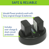 Sony NP-FW50 Battery (2-Pack) and Dual Charger by Wasabi Power