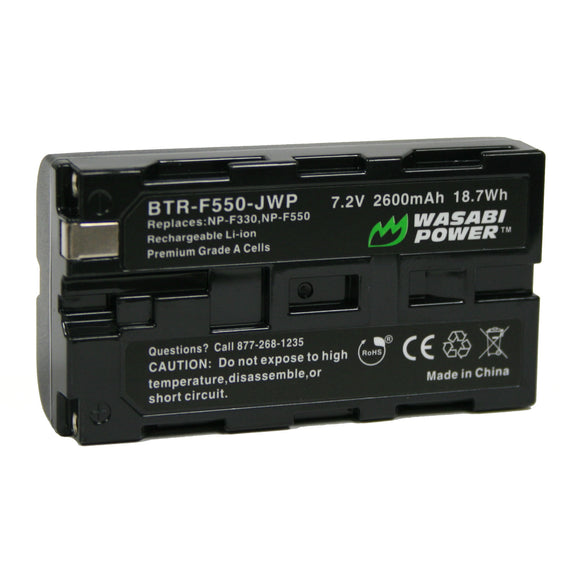 Sony NP-F330, NP-F530, NP-F550, NP-F570, CN-160, CN-216, CN-126 (L Series) Battery by Wasabi Power