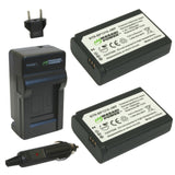 Wasabi Power Battery (2-Pack) and Charger for Samsung BP1310, ED-BP1310