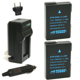 Nikon EN-EL14, EN-EL14a Battery (2-Pack) and Charger by Wasabi Power