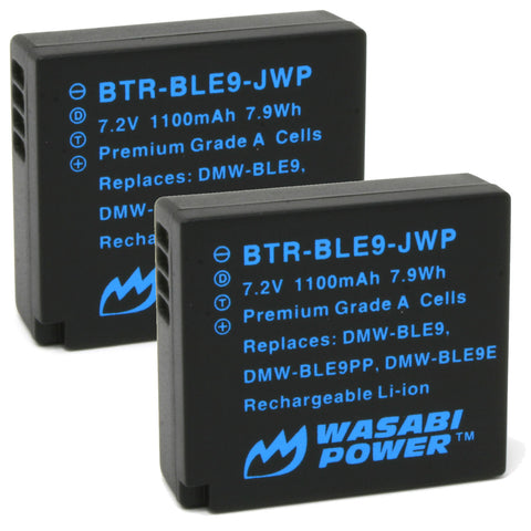 Panasonic DMW-BLE9, DMW-BLG10 Battery (2-Pack) by Wasabi Power