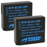 Wasabi Power Battery for Panasonic DMW-BLE9, DMW-BLG10 (2-Pack)