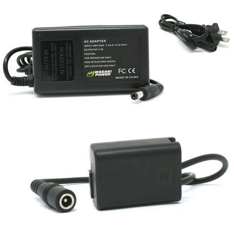 Sony NP-FW50 AC Power Adapter Kit with DC Coupler for Sony AC-PW20 by Wasabi Power