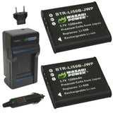 Panasonic VW-VBX090 Battery (2-Pack) and Charger by Wasabi Power