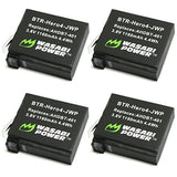 GoPro HERO4, AHDBT-401, AHBBP-401 Battery (4-Pack) by Wasabi Power