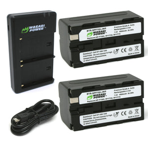 Sony NP-F730, NP-F750, NP-F760, NP-F770 (L Series) Battery (2-Pack) and Dual Charger by Wasabi Power