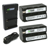 Wasabi Power Battery (2-Pack) and Dual Charger for Sony NP-F730, NP-F750, NP-F760, NP-F770 (L Series)