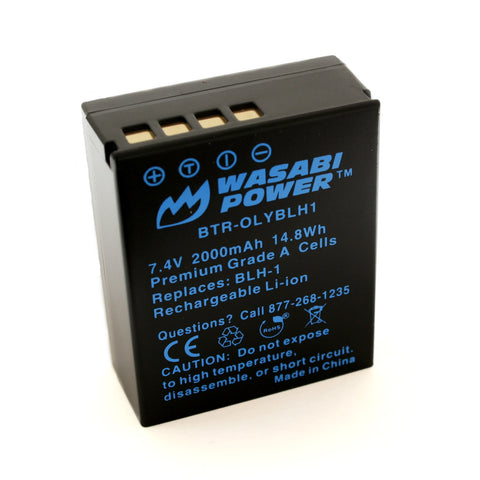Olympus BLH-1 (Fully Decoded) Battery by Wasabi Power