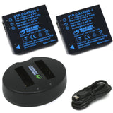 Panasonic CGA-S005, DMW-BCC12 Battery (2-Pack) and Dual Charger by Wasabi Power
