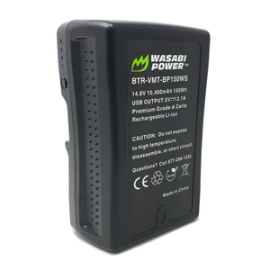 V-Mount Battery (14.8V, 10400mAh, 150Wh) by Wasabi Power