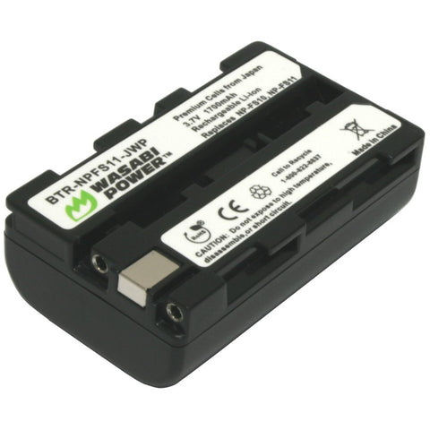 Sony NP-F10, NP-FS10, NP-FS11, NP-FS12 Battery by Wasabi Power