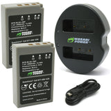 Olympus BLS-5, BLS-50, PS-BLS5 Battery (2-Pack) and Dual Charger by Wasabi Power