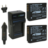 Wasabi Power Battery (2-Pack) and Charger for Leica BP-DC7