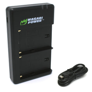 Sony NP-F550, NP-F750, NP-F960 (L-Series) Dual USB Battery Charger by Wasabi Power