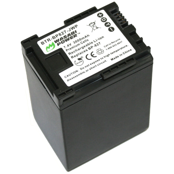 Canon BP-827 Battery by Wasabi Power