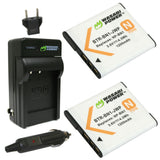 Sony NP-BN1 Battery (2-Pack) and Charger by Wasabi Power