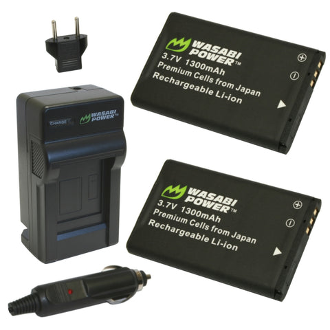 BL-5C Battery (2-Pack) and Charger by Wasabi Power