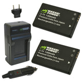 Wasabi Power Battery (2-Pack) and Charger for Midland BATT11L and Midland XTC-300, XTC-310, XTC-350, XTC300VP4, XTC310PS, XTC350VP4