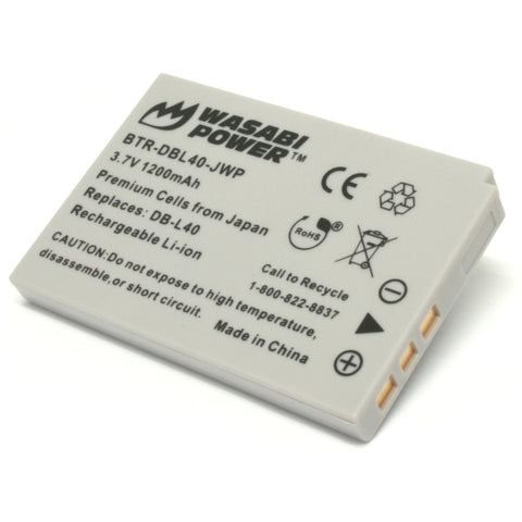Sanyo DB-L40, DB-L40AU Battery by Wasabi Power