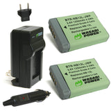 Canon NB-13L Battery (2-Pack) and Charger by Wasabi Power